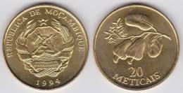 Mozambique 20 Meticais 1.994 Laton Acero KM#118 SC/UNC     DL-10.249 - Mozambique