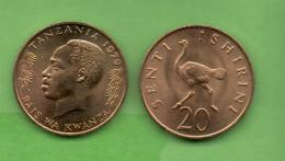 TANZANIA - 20 SENTI 1979 KM2 - Tanzanía