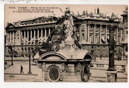 75 - PARIS . PLACE DE LA CONCORDE, LA STATUE DE STRASBOURG ET L'AUTOMOBILE-CLUB DE FRANCE - Réf. N°15499 - - Statues