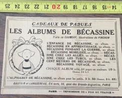 PUB PUBLICITE ANNEES 20 LES ALBUMS DE BECASSINE PINCHON GAUTIER ET LANGUEREAU - Sammlungen