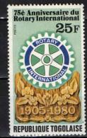 TOGO - 1979 - ROTARY INTERNATIONAL - 75° ANNIVERSARIO - NUOVO MNH - Togo (1960-...)