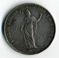 Une Pièce De 5 Lire 1848 M  Du Gouvernement Provisoire De Lombardie - Temporary Revolutionary Government