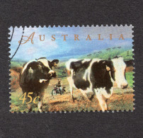 Motorcycle , Farming, Cows, 1998 AUSTRALIA  - Sheet Stamp - Motos