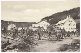LE PONT VD 1915 Militär-Radfahrer - VD Waadt