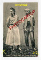 PROPAGANDE Militaire ANTI KRONPRINZ-CARICATURE-SATIRE-Uniforme Contre Habit-DESSIN-Guerre 14-18-1 WK-Militaria- - War 1914-18