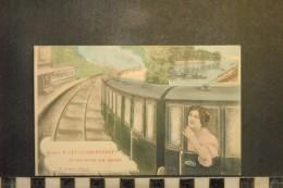 CP, 92, Je Pars De LEVALLOIS PERRET Et Vous Envoie Mes Amitiés Edition EA Transport Train Chemin De Fer - Levallois Perret