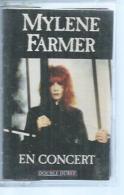 "K7 Audio -  MYLENE FARMER  "" EN CONCERT ""  16 TITRES - Cassettes Audio"