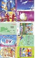 LOT DISNEY JAPAN * 10 CARTES PREPAYEES Japon (LOT 22) 10 Japan PREPAIDCARDS * 10 DISNEY KARTEN - Disney