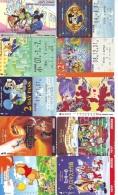 LOT DISNEY JAPAN * 10 CARTES PREPAYEES Japon (LOT 24) 10 Japan PREPAIDCARDS * 10 DISNEY KARTEN - Disney