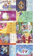 LOT DISNEY JAPAN * 10 CARTES PREPAYEES Japon (LOT 26) 10 Japan PREPAIDCARDS * 10 DISNEY KARTEN - Disney