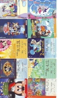 LOT DISNEY JAPAN * 10 CARTES PREPAYEES Japon (LOT 27) 10 Japan PREPAIDCARDS * 10 DISNEY KARTEN - Disney