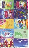 LOT DISNEY JAPAN * 10 CARTES PREPAYEES Japon (LOT 34) 10 Japan PREPAIDCARDS * 10 DISNEY KARTEN - Disney