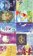 LOT DISNEY JAPAN * 10 CARTES PREPAYEES Japon (LOT 35) 10 Japan PREPAIDCARDS * 10 DISNEY KARTEN - Disney