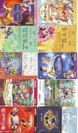 LOT DISNEY JAPAN * 10 CARTES PREPAYEES Japon (LOT 39) 10 Japan PREPAIDCARDS * 10 DISNEY KARTEN - Disney