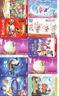 LOT DISNEY JAPAN * 10 CARTES PREPAYEES Japon (LOT 40) 10 Japan PREPAIDCARDS * 10 DISNEY KARTEN - Disney