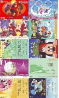 LOT DISNEY JAPAN * 10 CARTES PREPAYEES Japon (LOT 48) 10 Japan PREPAIDCARDS * 10 DISNEY KARTEN - Disney