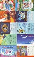 LOT DISNEY JAPAN * 10 CARTES PREPAYEES Japon (LOT 49) 10 Japan PREPAIDCARDS * 10 DISNEY KARTEN - Disney