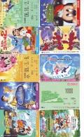 LOT DISNEY JAPAN * 10 CARTES PREPAYEES Japon (LOT 50) 10 Japan PREPAIDCARDS * 10 DISNEY KARTEN - Disney