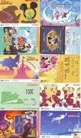 LOT DISNEY JAPAN * 10 CARTES PREPAYEES Japon (LOT 57) 10 Japan PREPAIDCARDS * 10 DISNEY KARTEN - Disney