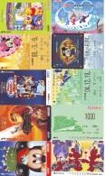LOT DISNEY JAPAN * 10 CARTES PREPAYEES Japon (LOT 60) 10 Japan PREPAIDCARDS * 10 DISNEY KARTEN - Disney