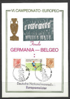 ITALIEN Sonderbeleg Deutsche Nationalmannschaft Eurpameister 1980 Finale Gemania - Belgeo - Fußball-Europameisterschaft (UEFA)
