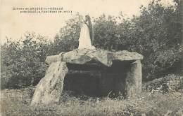AM.V.R.16-249 :   SAUGRE-SUR-DENEZE PRES DOUE LA FONTAINE  LE DOLMEN MEGALITHE ARCHEOLOGIE - Frankreich