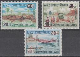 LAOS - 1967 Mekong Delta Flood. Scott B6-8. MNH ** - Laos