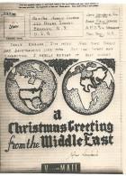 USA WWII V-Mail Illustré Carte From Middle East - Marcophilie