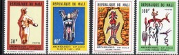 Mali 1972 Archaeology Animals Art Cultures Statue Arts Stamps MNH #169-172 Perforated - Archaeology
