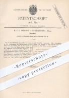 Original Patent - M. C. R. Andorff , Nordhausen / Harz  1884 , Tischzitter , Zitter , Zittern , Musikinstrumente , Musik - Historische Dokumente