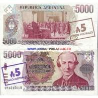 ARGENTINE 5 AUSTRALES PICK 321 TRES BON ETAT - Argentina