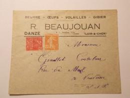 Marcophilie  Cachet Obliteration Timbre  - DANZE - Entête Professionnelle Beurre Oeufs Volailles Gibier 1931  (574) - Marcophilie (Lettres)