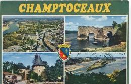 Champtoceaux : Multivues Générale Aérienne Chateau Champalud Cul Du Moulin (n°0826 Combier) - Champtoceaux
