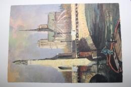 RR - Paris  En Flanant - Notre Dame Et Pont Del La Tournelle  -  ILLUSTRATEUR -  Editon D´Art  YVON - Notre Dame De Paris