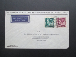 Niederl. Indien 1939 Luftpost. Strafgevangenis Soekamiskin Bandoeng /Gefangenenlager. Gouverments Landbouwbedrijven.Java - Niederländisch-Indien