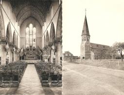 Grimbie / Opgrimbie : Sint-Kristoffelkerk , Binnen-en Buitenzicht -----2 Kaarten - Maasmechelen