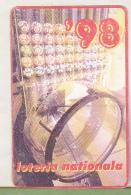 Romanian Small Calendar - 1998 National Lottery- Lottery Calendar (2) - Calendari