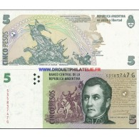 ARGENTINE 5 PESOS PICK 353 TRES BON ETAT - Argentinië