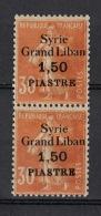 Syrie Syria 1923, Surch Grand Liban, 1,50 P / 30 C * MH, Semeuse