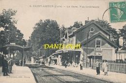 39 // SAINT AMOUR   La Gare, Vue Intérieure 4 , Ferrand édit  ** - Autres Communes