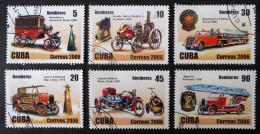 VEHICULES ANCIENS DE POMPIERS 206 - OBLITERES - YT 4393/98 - MI 4871/77 - Kuba