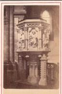 49 COMBREE Photo 1872 CDV Chaire Dans La Nef Chapelle Pensionnat - Photographs