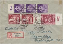 763+816+818 MiF R-Brief WOLFSBERG In KÄRNTEN 14.9.42 Nach Regensburg 16.9.42 - Germania