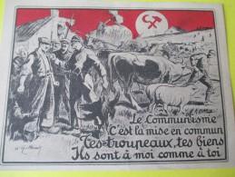 """Tract Anticommuniste/"""" Le Communisme C'est La Mise En Commun""""/Centre De Propagande Des Républicains Nationaux/1928 VPN52 - Vecchi Documenti"""