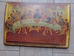 Icoon Het Laatste Avondmaal Door Griekse Schilder In 1976 - Olieverf