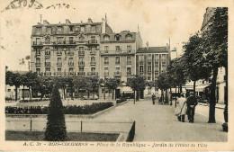 Dép 92 - Bois Colombes - Place De La République - Jardin De L'Hôtel De Ville - 2 Scans - état - Otros Municipios
