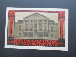 Postkarte 1919 Deutsche Nationalversammlung In Weimar 1919 Entwurf Max Nehrling, Weimar. Luftpost Stempel - Allemagne
