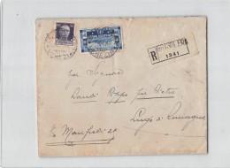 15146 GRISOLERA X LUGO - RACCOMANDATA - REGIA ACCADEMIA NAVALE - 1900-44 Victor Emmanuel III