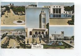 Maroc : Oujda Multivues - Place De Gaulle Poste Fontaine Place Clemenceau & Gare - Autres