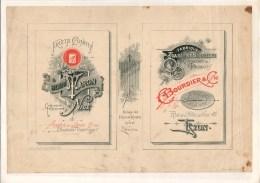 Affiche Planche Chromo Plakat Env. 28x19 Cm Env. 1895 Maron Confiseur, Nice, Bijouterie Bourdier, Lyon, France - Other